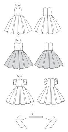 Simplicity 9147 Sewing pattern flower girl dress and