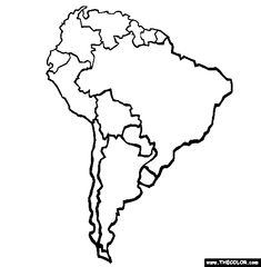 The area, South america and Colors on Pinterest