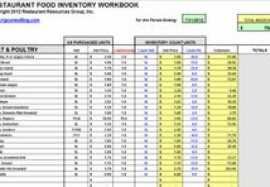 Food Beverage Inventory Master 29 Click On Image For Full View In