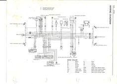 Wiring Diagram of a 1995 Kawasaki KLR 650 Motorcycle