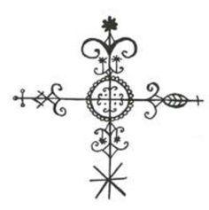 Erzulie Dantors veve. A Veve is a religious symbol