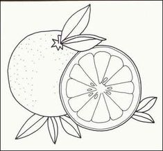 Lemon fruit color page, Fruits coloring pages, color plate