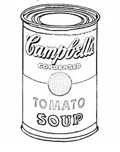 Art Lesson- Andy Warhol- coloring page