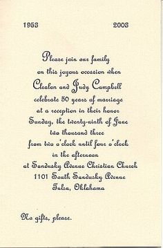 1000 Images About Anniversary Invitations On Pinterest