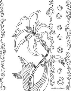 1000+ images about Flower coloring pages on Pinterest