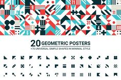 20 GEOMETRIC POSTERS