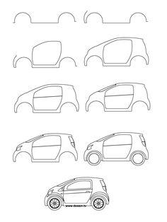 dessin voiture facile reproduire
