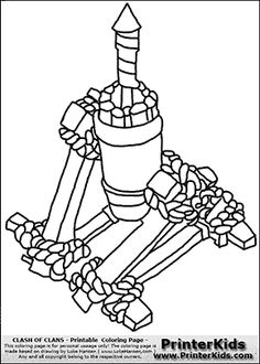 Free Printable Clash of Clans Pekka Knight Coloring Pages
