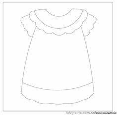 Apron pattern. Use the printable outline for crafts