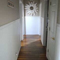 Yellow Gray And White Living Room Gloss Furniture Beadboard Plank Walls On Pinterest | Wainscoting ...