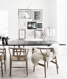 Wishbone chairs and