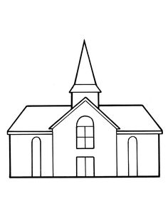 Church pattern. Use the printable pattern for crafts