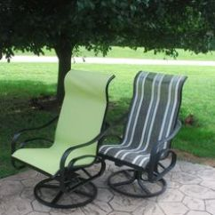 Recover Sling Patio Chairs Wooden Office Without Wheels Diy And Upcycle That Furniture. Paint Replace Fabric Slings. Here's How... | ...
