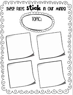 Free printable, Cornell notes and Graphic organizers on