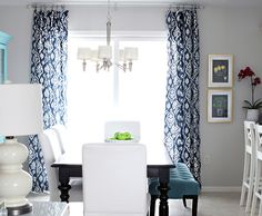 Proof That Navy Curtains On A Grey Wall With Teal Accents Are
