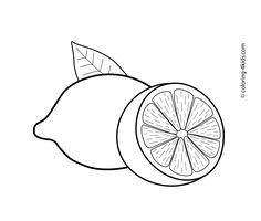 Printable lemon coloring page. Free PDF download at http