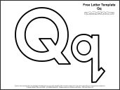 Free letter templates + a cute stick puppet for each