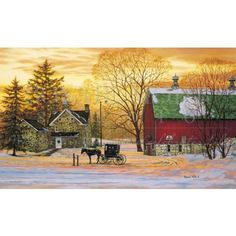 Country Barn At Christmas Christmas Cards A Place