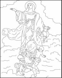 Assumption of Mary coloring page