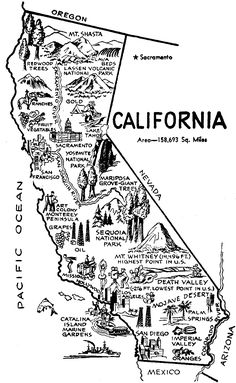 Learn About California with Free Printable Workheets