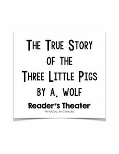 Original fairy tales, the Originals and Three little pigs