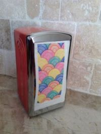 Fiesta Fiestaware Napkin Holder Dispenser 1996 Sea Mist ...