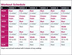 6 Weeks To Your First 5K Training Plan Training And 5k Training