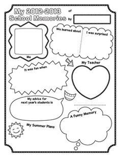 This is a brightly colored page for your students' memory