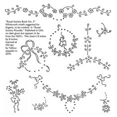 Flower borders, Hand embroidery patterns and Embroidery