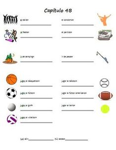 Realidades 1 Capitulo 4B Vocabulary from Spanish puzzles