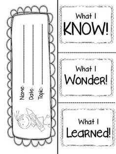 KWL Graphic Organizer and 40+ more ADORABLE graphic