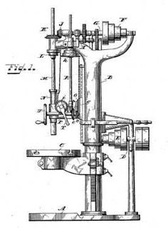 Pillar Drill patented in 1893, found in factories or large
