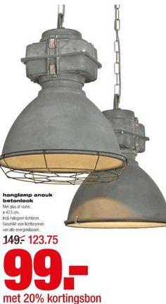 Brilliant hanglamp Anouk mat betonlook  Praxis