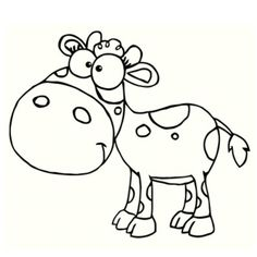 coloriage la vache à gommette Imprimer le coloriage grand