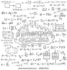 Math theory and mathematical formula equation doodle