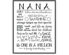 A special nana or nan personalized grandmother poem
