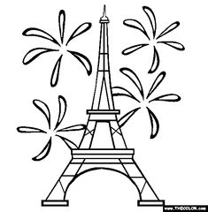 Eiffel towers, Towers and Coloring on Pinterest
