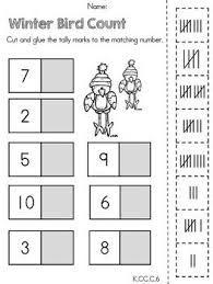 Kindergarten Winter Math Worksheets (Common Core Aligned