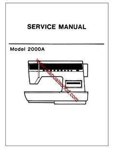 Singer 237 Service And Repair Manual Download. 35 pages of