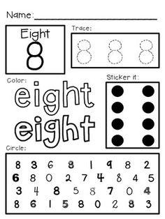 PreK-K Early Number Learning Worksheets: Numbers 10-20