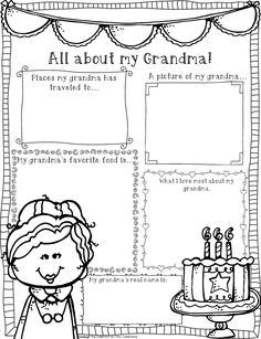 Grandparents day activities, Acrostic poems and Letter in