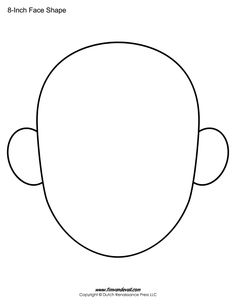 Frog head pattern. Use the printable outline for crafts
