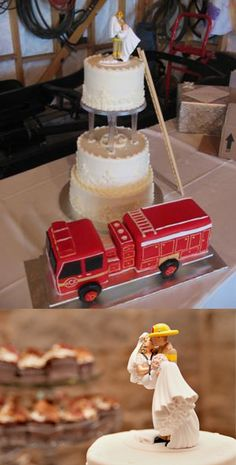 1000 ideas about Firefighter Wedding Cakes on Pinterest  Firefighter Wedding Firefighter