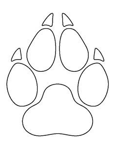 Wolf head pattern. Use the printable outline for crafts