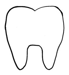 happy tooth pattern or coloring page { free printable } #