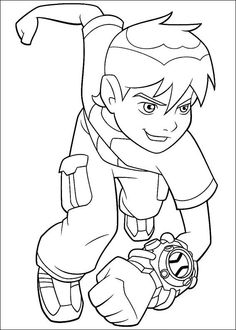 Ben 10 Colouring Page. Rath, an angry alien like an