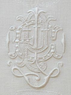 1000+ images about Hand Embroidered Monograms on Pinterest