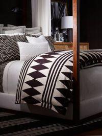 Ralph lauren, Black white bedding and White bedroom decor