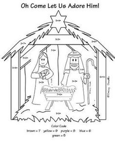 Nativity Color by Number
