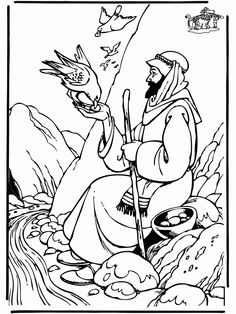 Elijah's Mantle coloring page from Prophet Elijah category